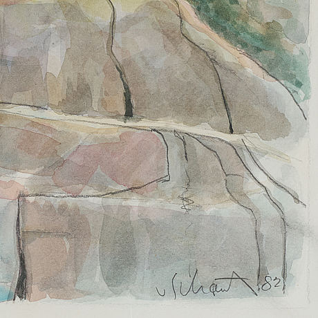 Philip von schantz, wtercolor, signed and dated -82.