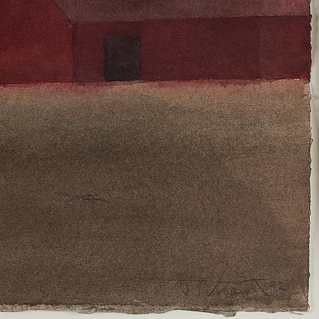 Philip von schantz, watercolor, signed and dated -92.