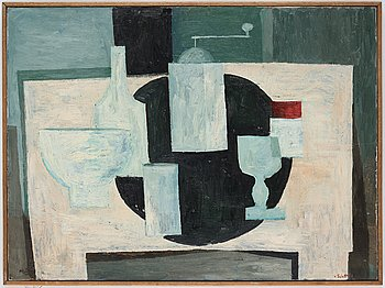 Philip von Schantz, oil on canvas, signed, executed 1950.