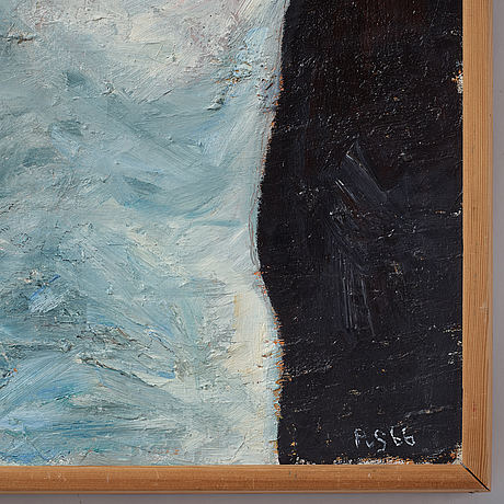 Philip von schantz, oil on canvas. signed pvs and dated -66.