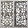 Two nain rugs, 144 x 74 and 140 x 70 cm.