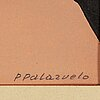 Pablo palazuelo, lithograph in colours, signed p palazuelo and numbered 10/150 in pencil.