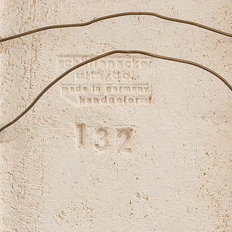 Helmut schäffenacker, a stoneware wall relief, ulm, germany.