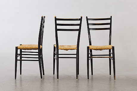 A set of eight italian chair from late 20th century.
