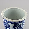 A blue and white flower pot, late qing dynasty.