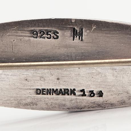 Hans hansen, a sterling silver brooch. copenhagen, mid-20th century.