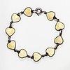 Volmer bahner, a silver bracelet with enamel. denmark.