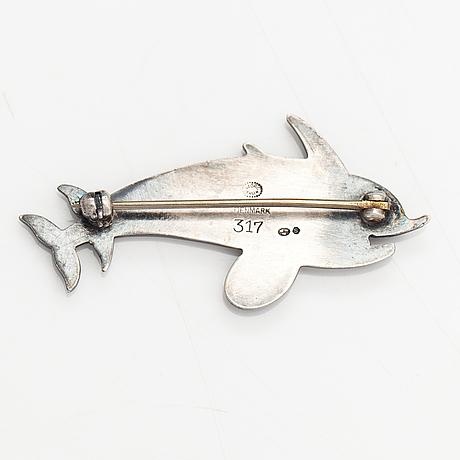 Georg jensen. a sterling silver brooch. copenhagen.