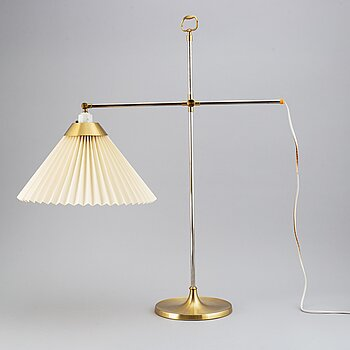 Le Klint, a brass adjustable T210 table light, Denmark.