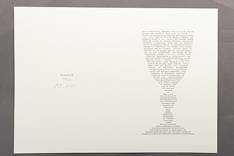 Peter dahl, 87 signed lithographs, edition 220/225.