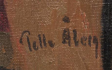 Pelle Åberg, oil on canvas signed.