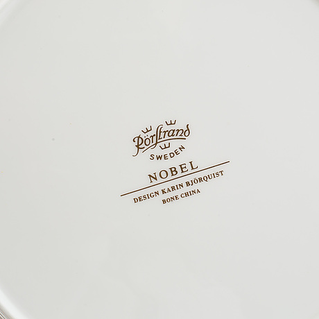"Karin björquist, a 55 pcs ""nobel"" bone china dinner service, rörstrand, post 1991."