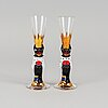 "12 glasses from ""nobelservisen"" by gunnar cyrén, orrefors."