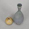 Two berndt friberg stoneware vases from gustavsbergs studio.