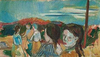 Nils Nilsson, oil on canvas. Signed NN.