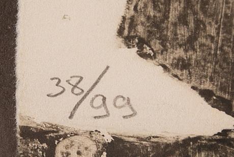 Antoni clavé, carborundum, signed 38/99.
