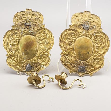 VÄgglampetter ett par barockstil sent 1800.tal.