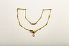Necklace 18k gold 1brilliant-cut diamond approx 0,08 ct and 1 opal (probably doublet).