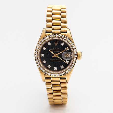 Rolex, oyster perpetual datejust, wristwatch, 26 mm.