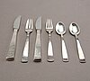 Jacob ängman, a part 'rosenholm' silver cutlery, gab, stockholm, mixed years (24 pieces).