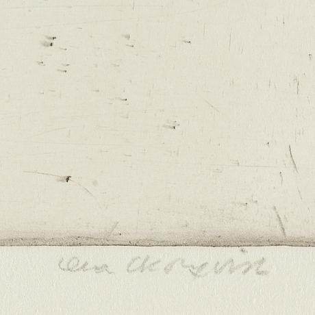 Lena cronqvist, drypoint, 1982, signed 4/20.