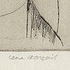 Lena cronqvist, drypoint, 1982, signed 2/20.
