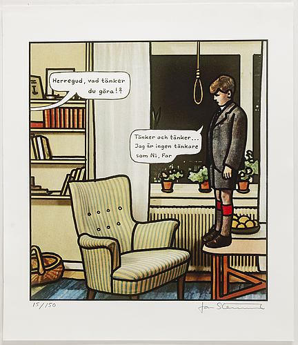 Jan stenmark, lithograph in colours, signed 15/150.