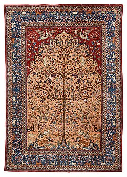 297. A carpet, a semi-antique Kashan, a so called Dabir, ca 383,5-387,5 x 269,5-275 cm.