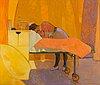Gordon stewart cameron, oil on canvas, signed.