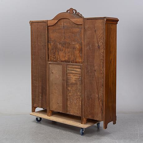 A second half of the 20th century oak cupboard.