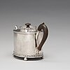 A swedish late gustavian parcel-gilt silver tea-pot, mark of gustaf georg rehnberg, norrköping 1807.