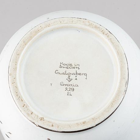 Stig lindberg, a 'grazia' stoneware vase, gustavsberg.