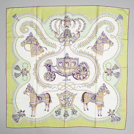 Hermès, a 'paperoles' silk scarf.