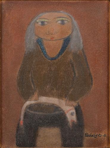 Nikolai lehto, oil on board, signed and dated -81.