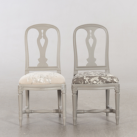 Two chairs 'hallunda', similar, by ikea, series of 18th century furniture.