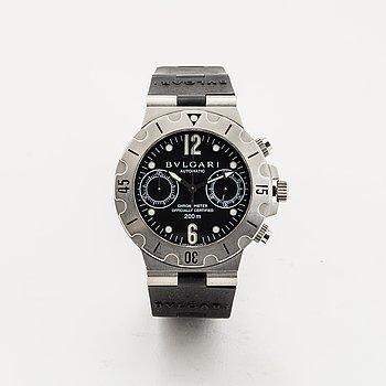 Bvlgari, Scuba Diagono Chronograph, wristwatch, 38 mm.