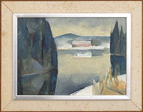 Eva cederström, oil on panel, signed and dated 1962.