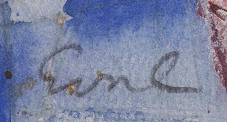 Eva cederström, water color, signed.