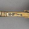 Ignati sazikov, serveringssked, förgyllt silver, s:t petersburg 1860-tal.