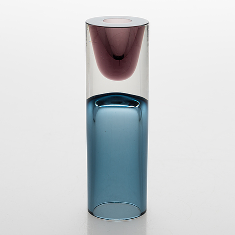 Tapio wirkkala, a 'double-headed' glass vase signed tapio wirkkala iittala - 3583.