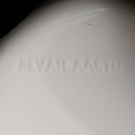 An alvar aalto glass vase 3031, signed alvar aalto, 2000's.