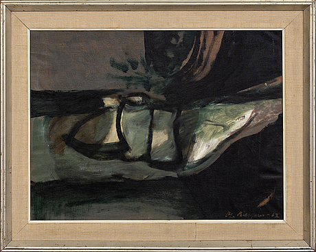 Ola billgren, oil on canvas, signed and dated -62.