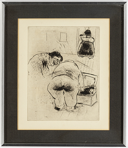 Marc chagall, etching, signed in the plate.