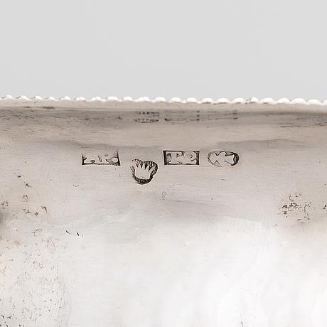 A mid-19th-century silver sugar bowl, maker's mark of alexander palmen, tammisaari 1852.