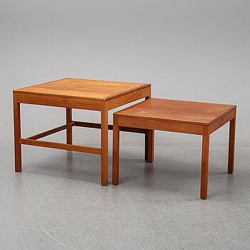 Børge Mogensen, a nest of teak tables medel 5377 from Fredericia Stolefabrik, Denmark, 1960's.