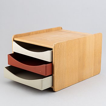 Børge Mogensen, an oak 'A4/3' box for documents for AB Karl Andersen & Söner.