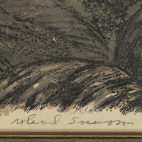Roland svensson, lithograph, signed.