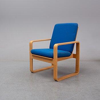 Rud Thygesen, a beech armchair, model 5131 for Magnus Olesen, Denmark.