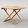 Mogens koch, a teak mid 20thc foldable table, interna, denmark.