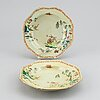 Six (4+2) famille rose export porcelain dishes, qing dynasty, qianlong (1736-95).